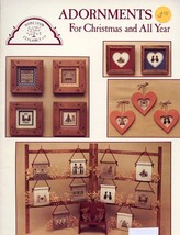 Homespun Elegance Adornments For Christmas and All Year Cross Stitch Pattern - $3.12