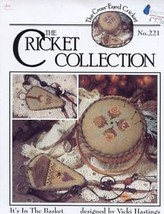 It's In The Basket Cricket 221 Cross Stitch Pattern Leaflet - $3.57