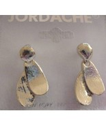 Jordache Silvery Petals Dangle Pierced Earrings NEW 30 Days to Shop & Pay! - $3.57