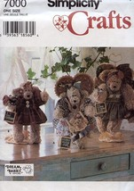 "Simplicity Crafts 7000 Sewing Pattern 12"" Bear & Clothes - $3.57"