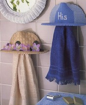 His & Hers Towel Holders Annie's Plastic Canvas Pattern Leaflet - $0.90