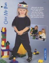 Color Me Fun Hat & Pullover Knitting Pattern NEW Child's Size S-M-L - $1.77