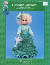 "Jessica Outfit for 15"" Doll Crochet Pattern/Instructions TD Creations - $3.57"