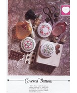 Covered Buttons Vanessa Ann NEW Cross Stitch Pattern- 30 Days To Shop & ... - $2.67