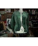 LILI CREPON PARIS Vintage  Mean Green Velveeten Jacket Size M - $39.60