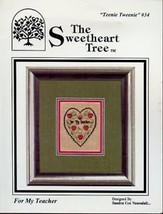 For My Teacher Teenie 34 w/ Charm Cross Stitch Pattern - $6.27
