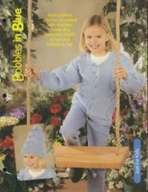 Bobbles in Blue Child's Jacket & Hat Knitting Pattern/Instructions Leaflet - $1.77