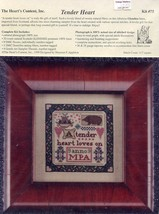 Tender Heart Love On Heart's Content Cross Stitch Kit NIP 30 Days to Pay! - $30.57