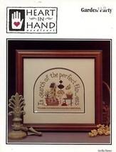 Garden Party Heart in Hand Cross Stitch Pattern Leaflet - $2.67