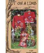 Out On A Limb Daisy Days Sweatshirt Table Runner Quilt Pattern Leaflet NEW - $4.47