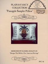 Pineapple Sampler Pillow Homespun Elegance Cross Stitch Pattern NEW - $5.37