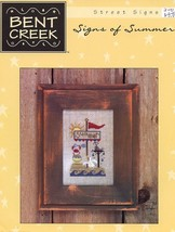 Signs Of Summer Cross Stitch Pattern Leaflet - 30 Days To Pay! - $6.27
