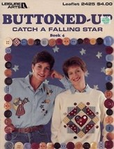 Catch A Falling Star Angels Hearts Buttoned-Up Cross Stitch Pattern Leaflet - $1.77