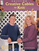 Creative Cables Sweaters to Knit HOWB Pattern Leaflet NEW SZ SM to 2XL NEW - $0.90