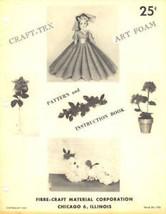 Craft-Tex Art Foam Pattern & Instruction Fibre Craft 1958 Leaflet RARE - $4.47