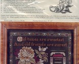 Old Friends Are Surest Heart's Content Cross Stitch Kit NIP 30 Days to Pay! - $53.98