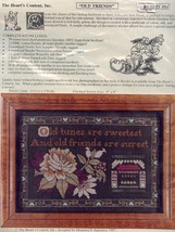 Old Friends Are Surest Heart's Content Cross Stitch Kit NIP 30 Days to Pay! - $67.47