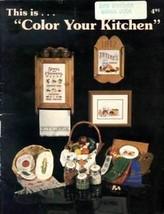 Color Your Kitchen Annie Designs Cross Stitch Pattern Leaflet - $2.22