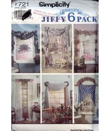 Simplicity 7721 Sewing Pattern Curtains Jiffy 6 Pack -30 Days To Shop & ... - $3.57