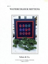 Watercolour Mittens Sekas & Co. Cross Stitch Pattern - 30 Days To Shop &... - $3.57