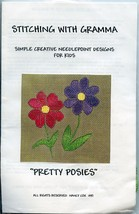 Pretty Posies Stitching with Gramma Kids Needlepoint Partial Kit - $7.17