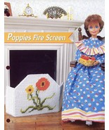 Poppies Fire Screen for Barbie Doll Annie's Plastic Canvas Pattern Leafl... - $1.32