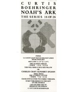 Panda Curtis Boehringer Noah's Ark Series Cross Stitch Mini Pattern Leaflet - $3.57