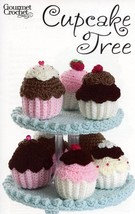 Frosted Cupcake Tree Gourmet Crochet Pattern Leaflet NEW- 30 Days To Shop & Pay! - $8.07