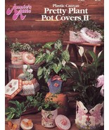 Pretty Plant Pot Covers II Bunnys Horse Plastic Canvas PATTERN/INSTRUCTIONS - $2.67