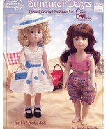"""Summer Days Five 14"""" Katie Doll Outfits Crochet PATTERN Leaflet - $7.17"""