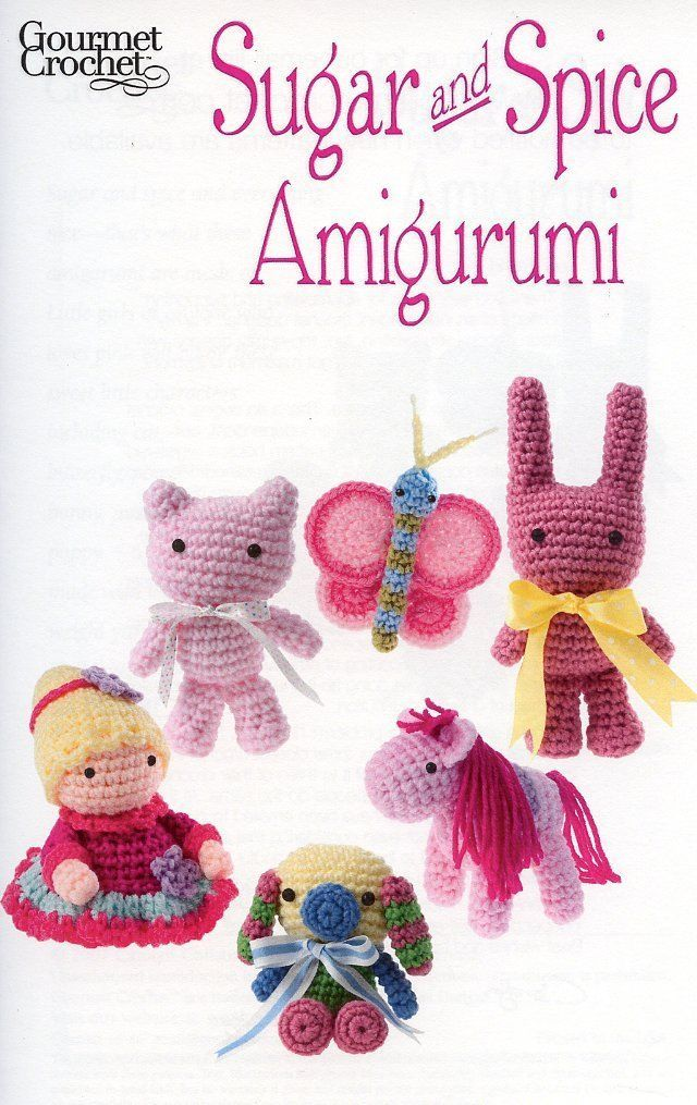 Primary image for Sugar and Spice Amigurumi Butterfly Pony Kitty Gourmet Crochet Pattern Leaflet