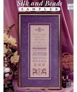 Silk and Beads Sampler The Needle's Work Cross Stitch Pattern Leaflet NEW - $3.57