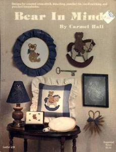 Bear In Mind Cross Stitch Stencil Punched Tin Candlewick Pattern Leaflet - $1.77