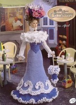 Miss April 1995 Bridal Trousseau Afternoon Frock Doll Outfit Crochet PATTERN - $4.47