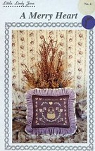 A Merry Heart Grows Many Flowers Little Lindy Jane Cross Stitch Pattern - $3.57