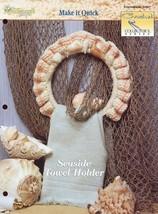 Seaside Towel Holder Crochet Pattern Leaflet - $1.50