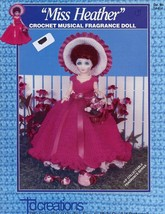 "Miss Heather Musical 13"" Fragrance Doll Outfit Crochet PATTERN Leaflet - $3.57"