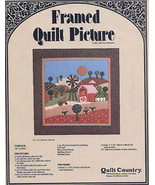 Farm Framed Quilt Picture Quilt Country Pattern Leaflet NEW - $5.37