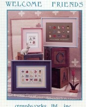 Welcome Friends Graphworks Cross Stitch Pattern  - 30 Days To Shop & Pay! - $2.22