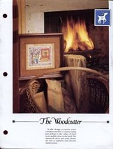 The Woodcutter Wood Warms You Twice Cross Stitch Pattern Leaflet - $1.32