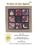 Fruits of the Spirit Stained Glass Kathleen Parman Quilt Pattern Leaflet - $4.47
