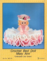Crochet Bed Doll Mary Ann Td Creations Pattern/Instructions Leaflet - $2.67