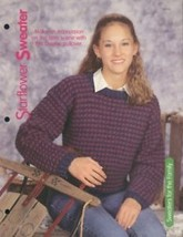 "Starflower Sweater 36-42"" Chest Pullover HoWB Knitting Pattern Leaflet NEW - $2.67"