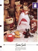 Santa Sack Vanessa Ann Christmas Cross Stitch Pattern Leaflet - $1.77