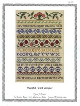 Thankful Heart Sampler Cross Stitch Pattern Leaflet NEW - $4.47