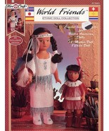 World Friends Indian Mother Child Beaded Doll Outfits Crochet PATTERN HTF - $19.77