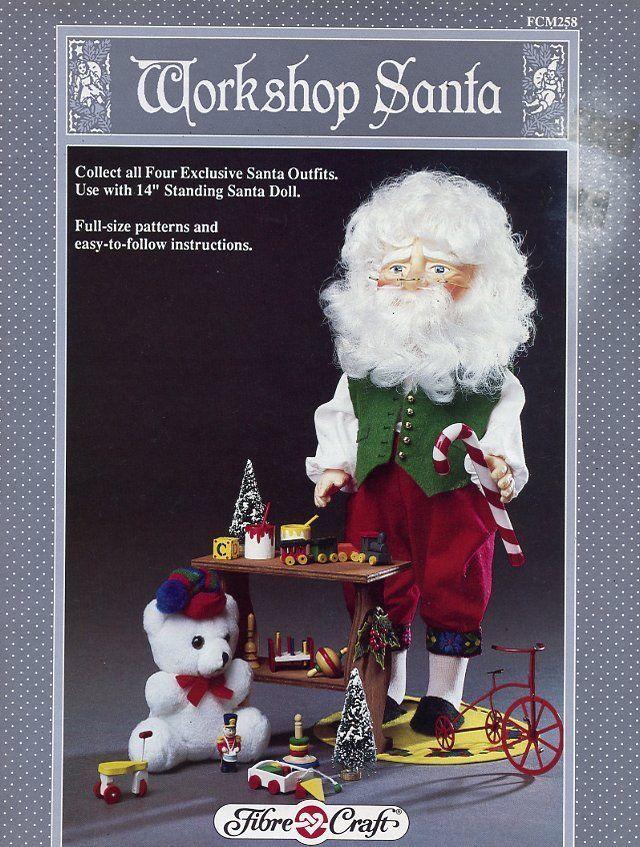 """Workshop Santa 14"""" Doll Outfit Fibre Craft Sewing Pattern Leaflet FCM258 HTF - $4.47"""