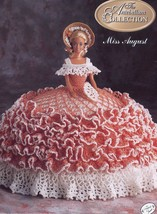 Miss August 1991 Antebellum Bed Doll Outfit firs Barbie Crochet Pattern Leaflet - $2.67