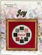 Joy Christmas Something In Common Cross Stitch Pattern - $3.57