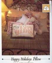 Happy Holidays Pillow Christmas Vanessa Ann Cross Stitch Pattern Leaflet - $1.77